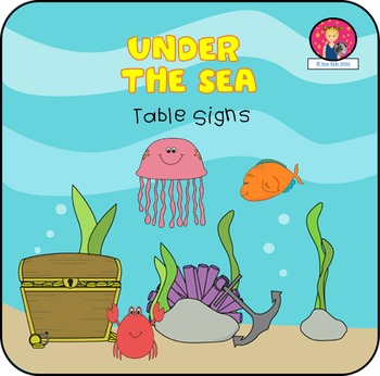 Table Signs {Under the Sea Themed}
