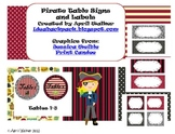 Table Signs and Classroom Labels - Pirates