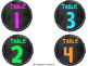 Table Signs - Chalkboard Brights