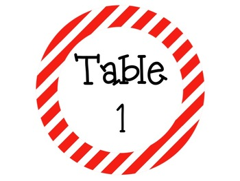 Table Signs and Labels: Red and Blue Themed EDITABLE