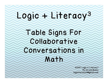 Table Signs for Collaborative Math Conversations