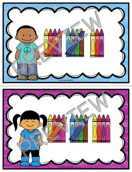 Table Signs for Learning- Crayon Tally Marks 1-20 FREE