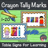 Crayon Tally Marks 1-20 Table Signs