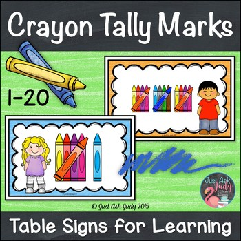 Table Signs for Learning- Tally Marks 1-20 FREE