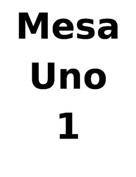 Table Signs for Spanish Class