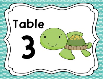 Table Signs with an Ocean Theme