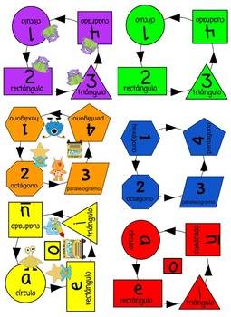 Table Spots - Spanish Shapes & Vowels