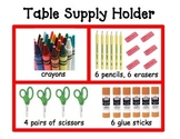 Table Supply Holder Diagram