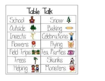 Table Talk Charts