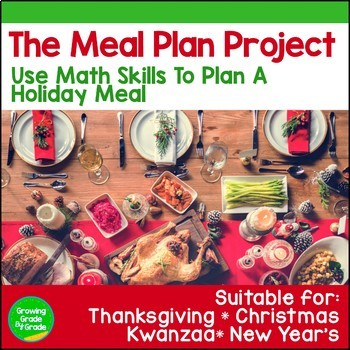 Math Project: Holiday Meal Plan