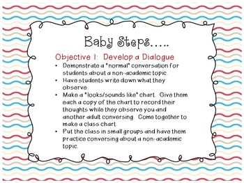 """""""Table Talk,"""" Student Led Conversations (CCS Speaking and Listening Aligned)"""