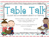 """""""Table Talk,"""" Student Led Conversations (CCS Speaking and"""