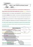Table Talk! Write to Speak Supplement