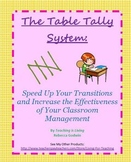 Table Tallies for Transitions and General Classroom Management