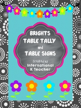 Table Tally and Table Signs Hang-Up FREEBIE