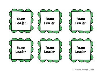Table Task Cards-Beginning of the Year Organization/ Classroom Management