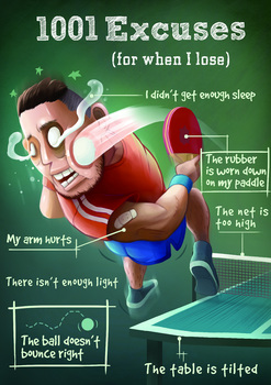 Table Tennis Poster: 1001 Excuses