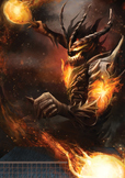 Table Tennis Poster: Fire Knight