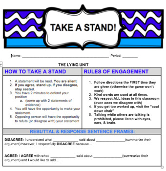 TAKE A STAND - A Game to Practice Persuasion