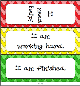 Classroom Management Tool: Table Tent Help Sign - Chevron Pattern