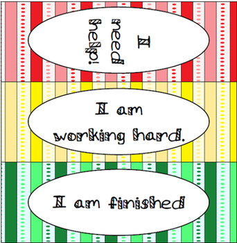 Classroom Management Tool: Table Tent Help Sign - Stripes
