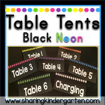 Table Tents {Black Neon}