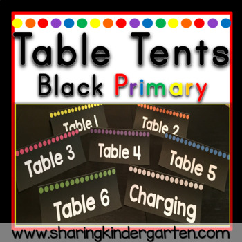 Table Tents {Black Primary}
