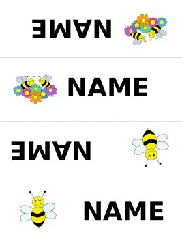 Table Tents Name Tags Bee Themed editable