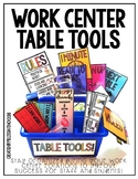 Table Tools- Work Center Organization Tools