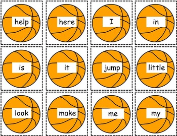 Sight Word Game ~Table Top Basketball
