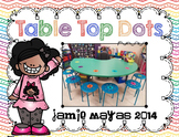 Table Top Dots {HOT COLORS}{Line Up Vinyl Dots}