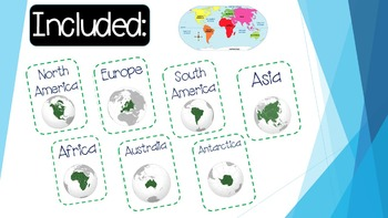 Table Top Labels--7 Continents