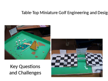 Table Top Mini-Golf Introductory Slideshow