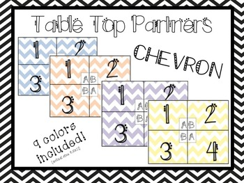 Table Top Partners - Chevron - 9 colors!