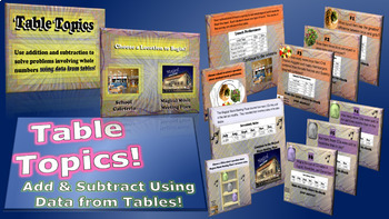 Table Topics - Adding and Subtracting Using Data from Tables