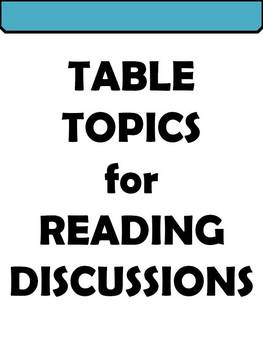 Table Topics for Reading Discussions