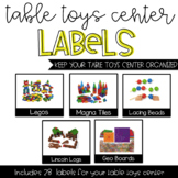 Table Toys Center Labels