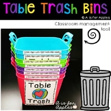 Table Trash Bin Labels