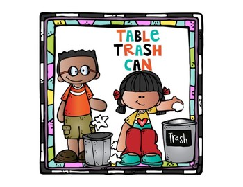 Table Trash Can Labels