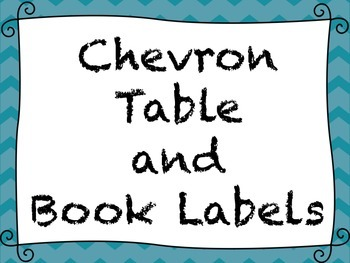 Table and Classroom Library Labels