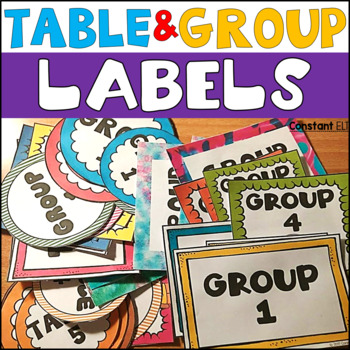 Table and Group Labels