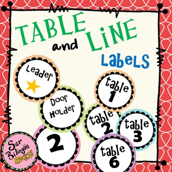 Table and Line Labels 2