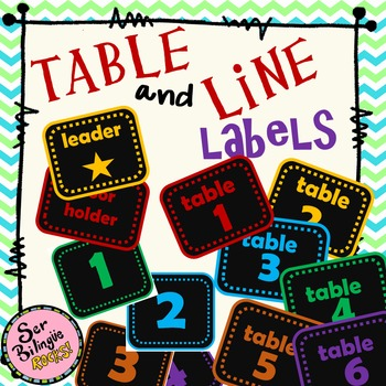 Table and Line Labels 1