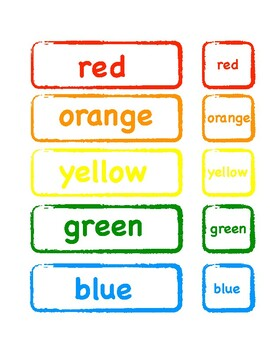 Table bin color labels