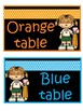 Table group signs- colours free