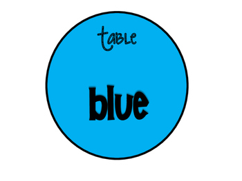 Table labels of colors