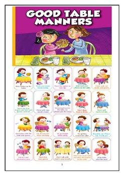 Table Manners By Deepika Subnani Teachers Pay Teachers