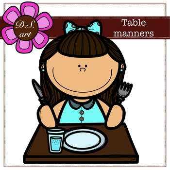 Table manners floats Digital Clipart (color and black&white)