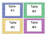 Table number Labels (Cheveron)