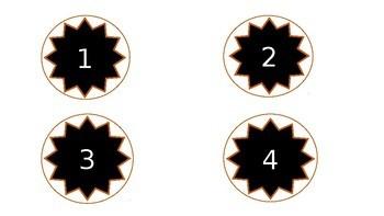Table numbers/Hook numbers/ Number labels